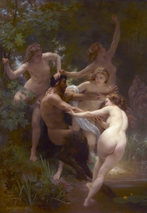 Nymphs and Satyr  *oil on canvas  *260 x 180 cm  *signed b.l.: W-BOVGEREAV-1873
