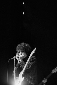 25 Jun 1966, Paris, France --- American singer and songwriter Bob Dylan on stage in Paris. --- Image by © Jacques Haillot/Apis/Sygma/Corbis